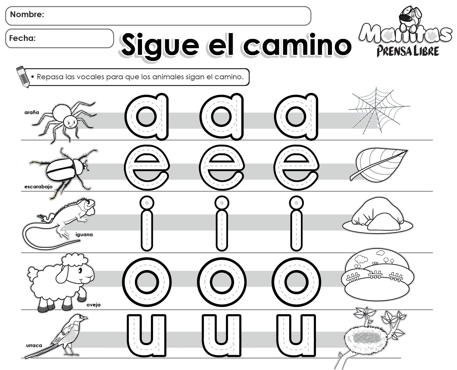 Ejercicios para colorear de vocales imagui for Aeiou el jardin de clarilu mp3
